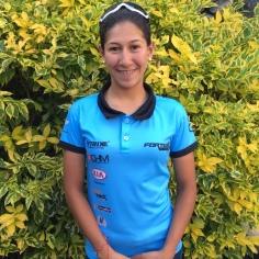 """Mariana Rodríguez, 19 años. Tiene cuatro años practicando ciclismo. Este año fue quinta en el ToAD en Estados Unidos. """"El ciclismo es mi pasión""""."""