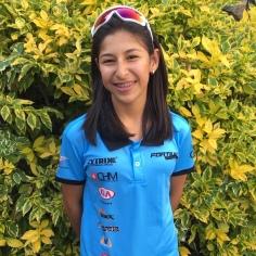 Natalia Rodríguez, 14 años. Ella estará compitiendo en las carreras Juveniles. Es la más pequeña del equipo.